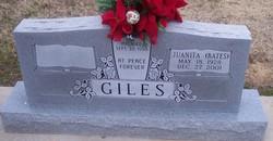 Juanita E. <i>Bates</i> Giles
