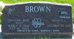 Shannon Rose <i>Hunt</i> Brown