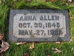 Anna <i>Allin</i> Allen