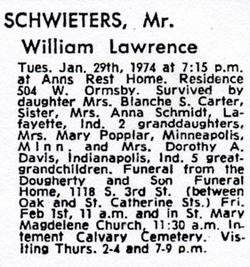 William Lawrence Schwieters