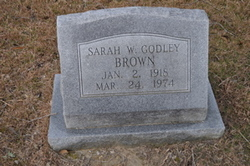 Sarah W. <i>Godley</i> Brown