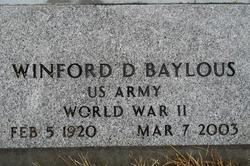 Winford D Baylous