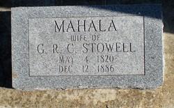 Mahala <i>Van Slyke</i> Stowell
