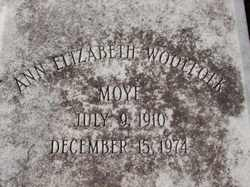 Ann Elizabeth <i>Woolfolk</i> Moye