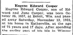 Eugene Edward Cooper