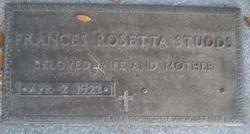 Frances Rosetta <i>Walker</i> Studds