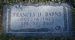 Frances H. <i>Connelly</i> Barns