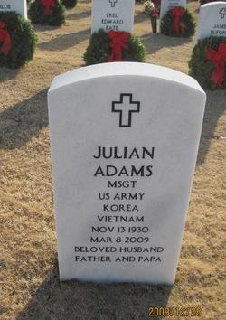 M/Sgt. Julian Adams