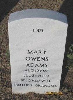 Mary <i>Owens</i> Adams