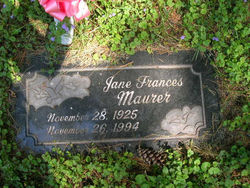 Jane Frances Jean <i>Faircloth</i> Maurer