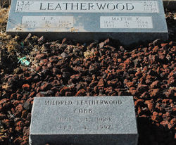 Mildred <i>Leatherwood</i> Cobb