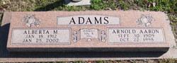 Alberta M Adams