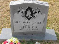 Mrs Mary <i>Greer</i> Austin