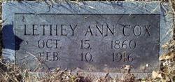 Letha Ann Lethy <i>Hudson</i> Cox