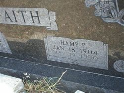 Hamp Pitt H P Faith