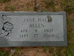 Jane <i>Hall</i> Allen