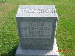 Mary <i>Armstrong</i> Anderson