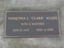 Vonetha L. <i>Clark</i> Allen