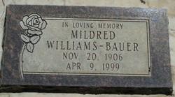 Mildred Millie <i>Williams</i> Bauer