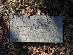 Pvt Hansford D Chitty