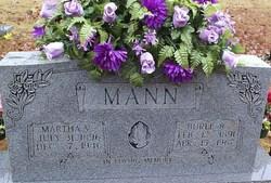 Martha Arvilla <i>Burleson</i> Mann
