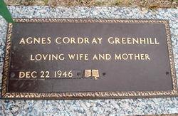 Agnes <i>Cordray</i> Greenhill