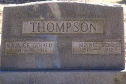 Minnie <i>Webb</i> Thompson