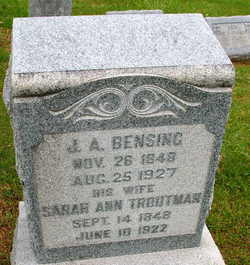 Sarah Ann <i>Troutman</i> Bensing