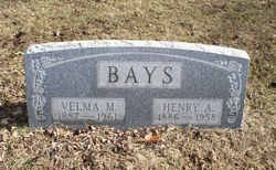 Velma M <i>Hooker</i> Bays