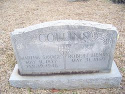 Martha Angeline <i>Savage</i> Collins