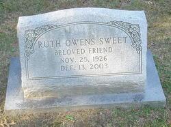 Ruth <i>Owens</i> Sweet