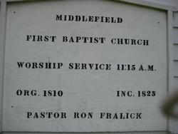 Middlefield Baptist Church and Cemetery