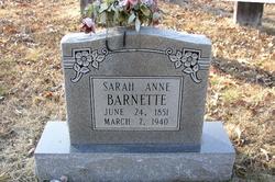 Sarah Ann Samathy <i>Roberts</i> Barnett