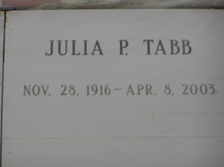 Julia P. Tabb