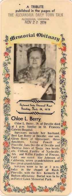 Chloe Lois <i>Fendley</i> Berry