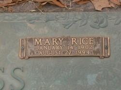 Mary Rice Ross