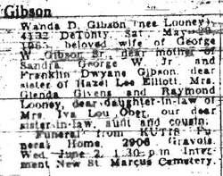Wanda D. <i>Looney</i> Gibson