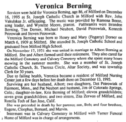 Veronica <i>Derner</i> Berning