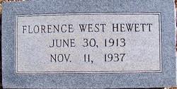 Florence Edna <i>West</i> Hewett