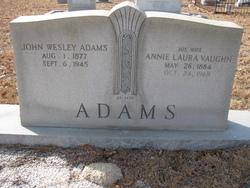 Annie Laura <i>Vaughn</i> Adams