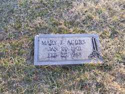 Mary E Acors