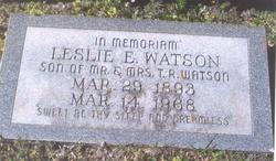 Leslie E Watson