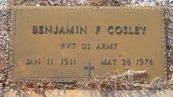 Benjamin F Cosley