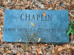 Anne O'Hear Annie <i>Witsell</i> Chaplin