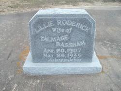 Lillie <i>Roderick</i> Bassham