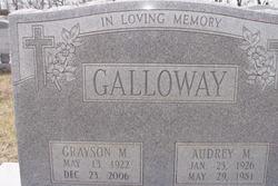 Audrey Maxine <i>Bancroft</i> Galloway