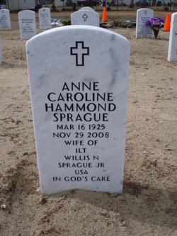 Anne Caroline <i>Hammond</i> Sprague