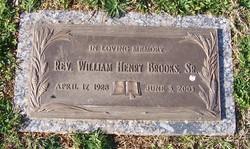 Rev William Henry Brooks, Sr