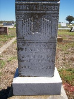 Anna Lucretia Annie Lou <i>Blackburn</i> McClung