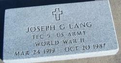 Joseph G Joe Lang